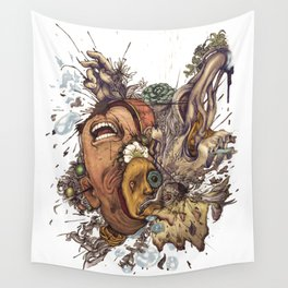 panic color  Wall Tapestry