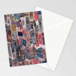 20th Century through stamps Stationery Cards