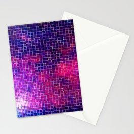 Coloful PixelS Fuchsia Purple Indigo Stationery Cards