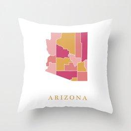 Arizona map Throw Pillow