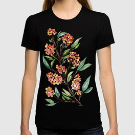 Watercolour Firethorn Branch with Berries T-shirt