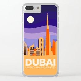 Vintage Travel: Dubai Clear iPhone Case