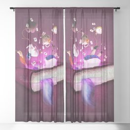 Bonkers Stories Sheer Curtain