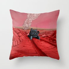Green Mars Throw Pillow