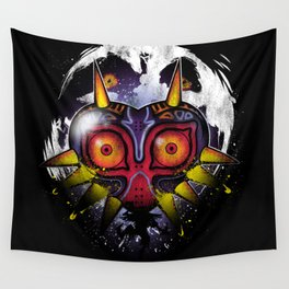 Power Behind the Mask Wall Tapestry