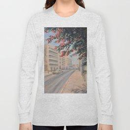 Eilat street Tel aviv_ Oil on canvas Long Sleeve T-shirt