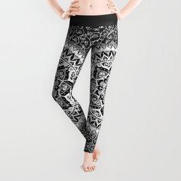 Yin Yang Mandala Pattern Leggings