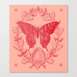Vermillion Butterfly Emblem Canvas Print
