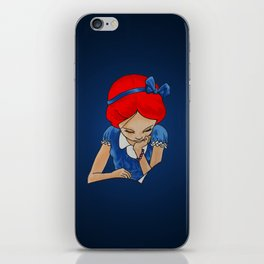 Alice in Readerland iPhone Skin