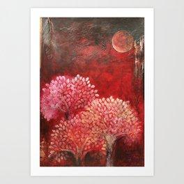Secret life of (Red) Trees Art Print