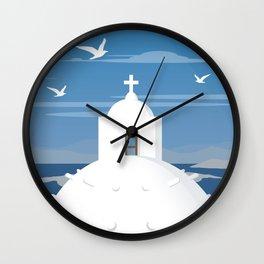 Santorini (GR), View from Fira Wall Clock