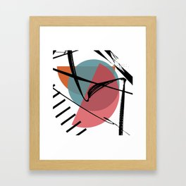 Torn Shackles Framed Art Print