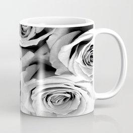 Black and White Roses Coffee Mug
