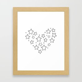 Stars, kids room and nursery deco Framed Art Print