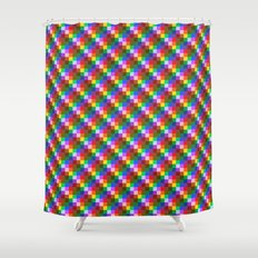 Pixel Static Shower Curtain