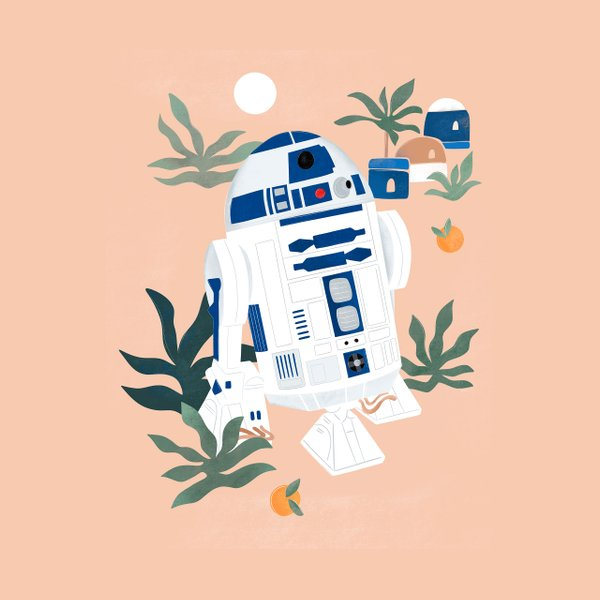 repeating pattern with Star Wars characters' heads