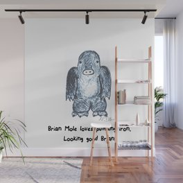 The mole loves working out  Wall Mural