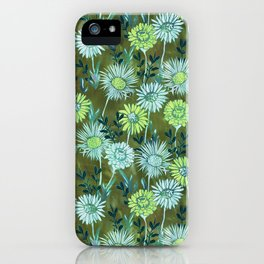 Gillian Floral Green iPhone Case