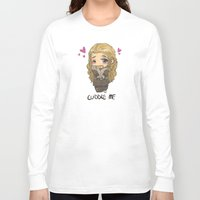 cuddle Long Sleeve T-shirts featuring Cuddle me by ScottyTheCat