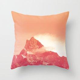 PEACHY PEAK Throw Pillow