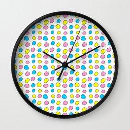 multicolor 2 polka dot-polka dot,pattern,dot,polka,circle,disc,point,abstract,minimalism Wall Clock