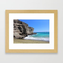 Olivine Sand and Turquoise Waters Framed Art Print
