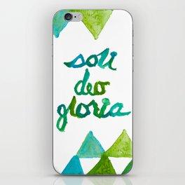SOLI DEO GLORIA LIFE- BLUE iPhone Skin