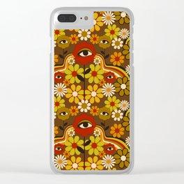 Flower Third Eye Clear iPhone Case