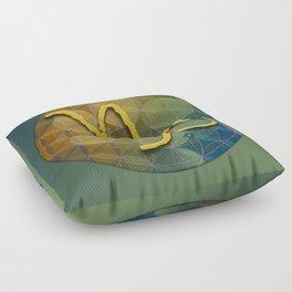 Flower of Life CAPRICORN Astrology Design Floor Pillow