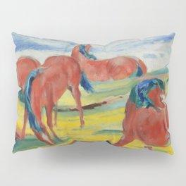 """Franz Marc """"Grazing Horses"""" (III) Pillow Sham"""