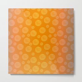 Shades of Orange with White Globes Metal Print