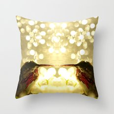 Mirrored Hummingbird... Throw Pillow