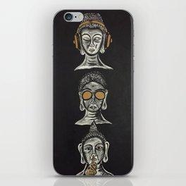 THE THREE WISE BUDDHAS iPhone Skin