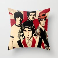 the who Throw Pillows featuring wHO? by f_e_l_i_x_x