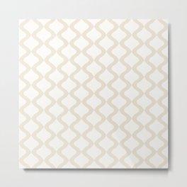 Alva Pattern - Coconut Metal Print