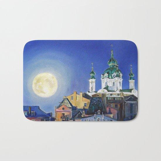 The church under the moon Bath Mat