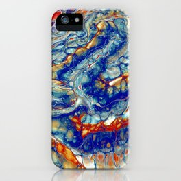 Fire and Ice 1 - Acrylic Flow Abstract iPhone Case