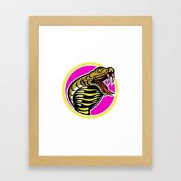 King Cobra Snake Mascot Framed Art Print