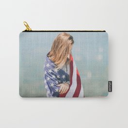 Girl in american flag Carry-All Pouch