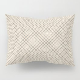 Blue & Beige Angled Grid Line Pattern Pairs To 2020 Color of the Year Chinese Porcelain PPG1160-6 Pillow Sham