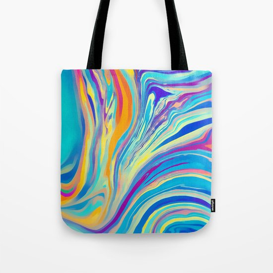rainbow swirl Tote Bag
