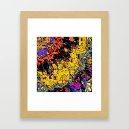 Shifting Shapes And Colors Framed Art Print