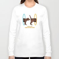 aperture Long Sleeve T-shirts featuring Aperture Science - Canine Aptitude Testing by Visual World