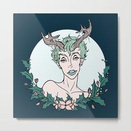 Holly Sprite (Mint/Rose) Metal Print