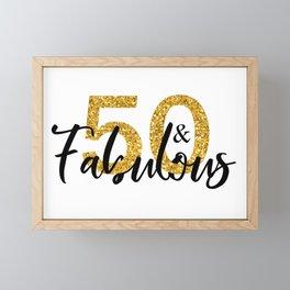 50 Fifty and Fabulous Gold Framed Mini Art Print