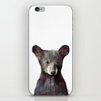 brown iPhone & iPod Skins featuring Little Bear by Amy Hamilton