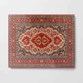 Ornate geometric tribal rug design Metal Print
