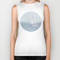 sailboat Biker Tanks featuring Sailboat  by Pure Nature Photos