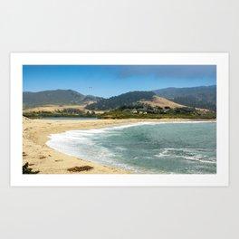 Carmel River State Beach, Carmel, California Art Print