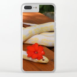 Colorful Snake Clear iPhone Case